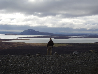 Lake Myvatn viewed from the Hverfjall crater