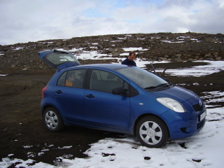 Toyota Yaris hired by the Regiment in Iceland