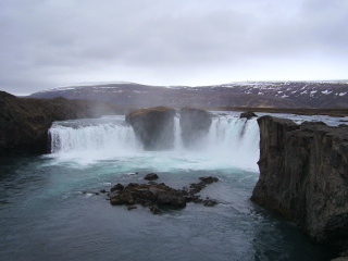 The waterfall of Godafoss still contains all Pelham's stuff
